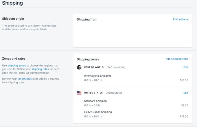 Shopify-Shipping