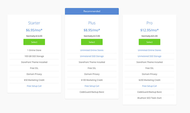 bluehost-woocommerce-pricing