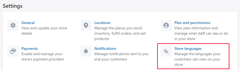 shopify-multiple-language-settings
